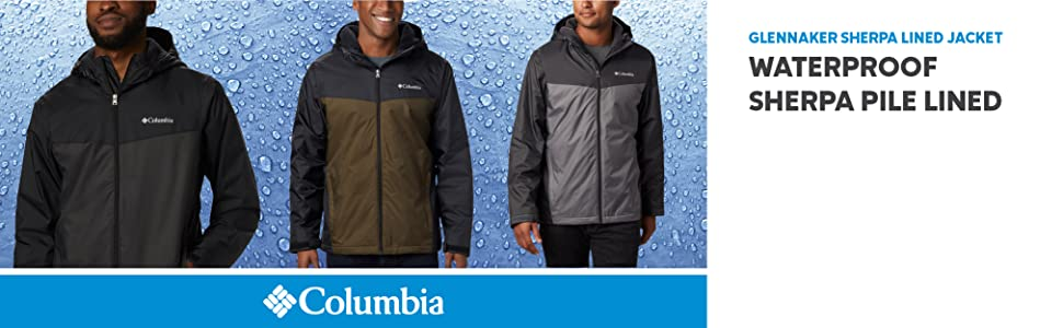 Columbia Men's Glannaker Sherpa Lined Waterproof Jacket