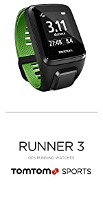 TomTom Runner 3 GPS Watch · TomTom Runner 3 Cardio GPS Watch · TomTom Runner 3 Cardio + Music GPS Watch · TomTom Adventurer GPS Multisport Watch