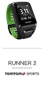TomTom Runner 3 GPS Watch · TomTom Runner 3 Cardio GPS Watch · TomTom Runner 3 Cardio + Music GPS Watch · TomTom Adventurer GPS Multisport Watch