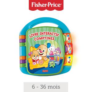 Fisher Price Livre Interactif Comptines Jouet Musical D Eveil Bebe Pour Apprendre En Chanson 6 Mois Et Plus Cdh39