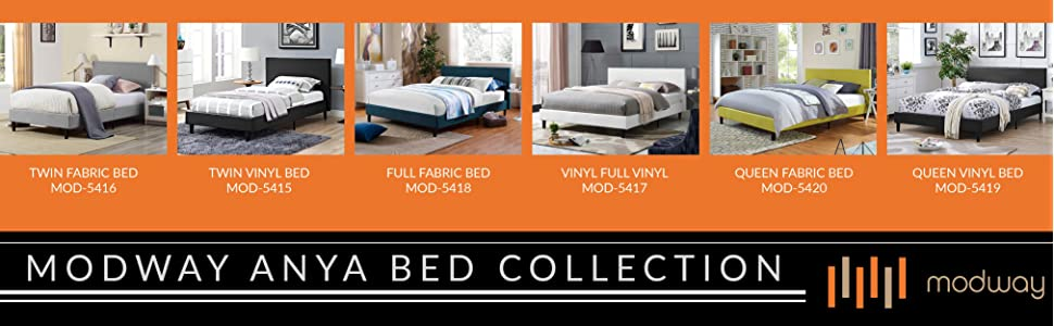 34c1e908e2719 Modway MOD-5420-LGR Anya Bed Frame