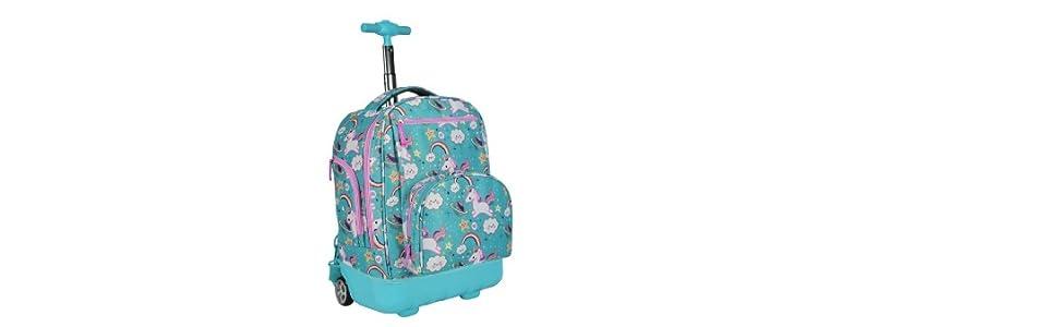 Amazon Com Pacific Gear Treasureland Hybrid Lightweight Rolling Backpack Seaworld 19 Inch