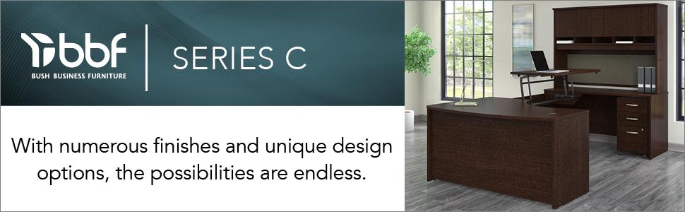 bbf,bush business furniture,series c,mocha cherry,cherry,contemporary,bush,bush industries