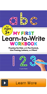 learn to write for kids, activity books for kids ages 4-8, alphabet books, handwriting