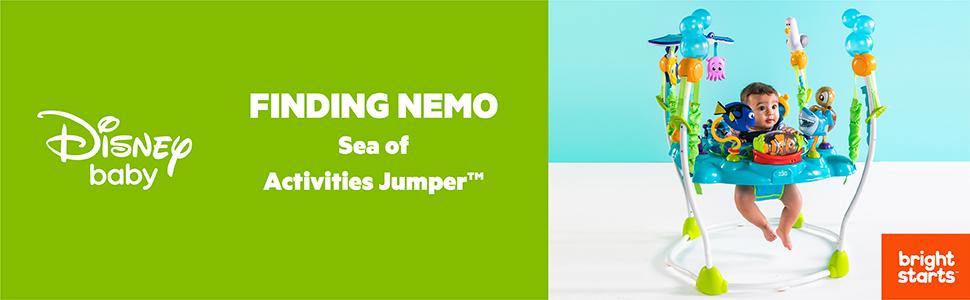744d6e882ef2 Amazon.com   Disney Baby Finding Nemo Sea of Activities Jumper   Baby