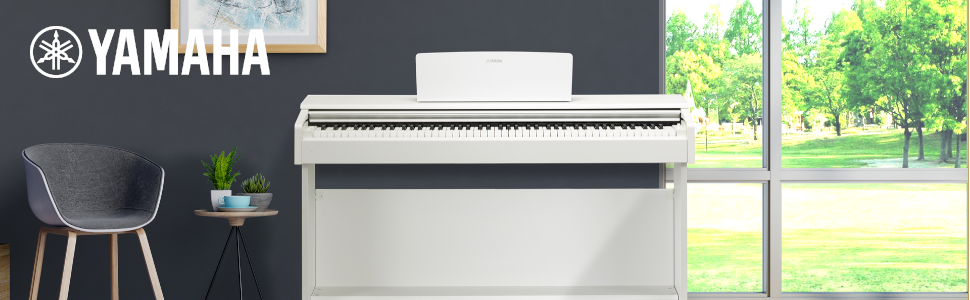 Yamaha Arius YDP-144 Digital Piano - Home Piano for Beginners or Hobbyists,  in White: Amazon.co.uk: Musical Instruments