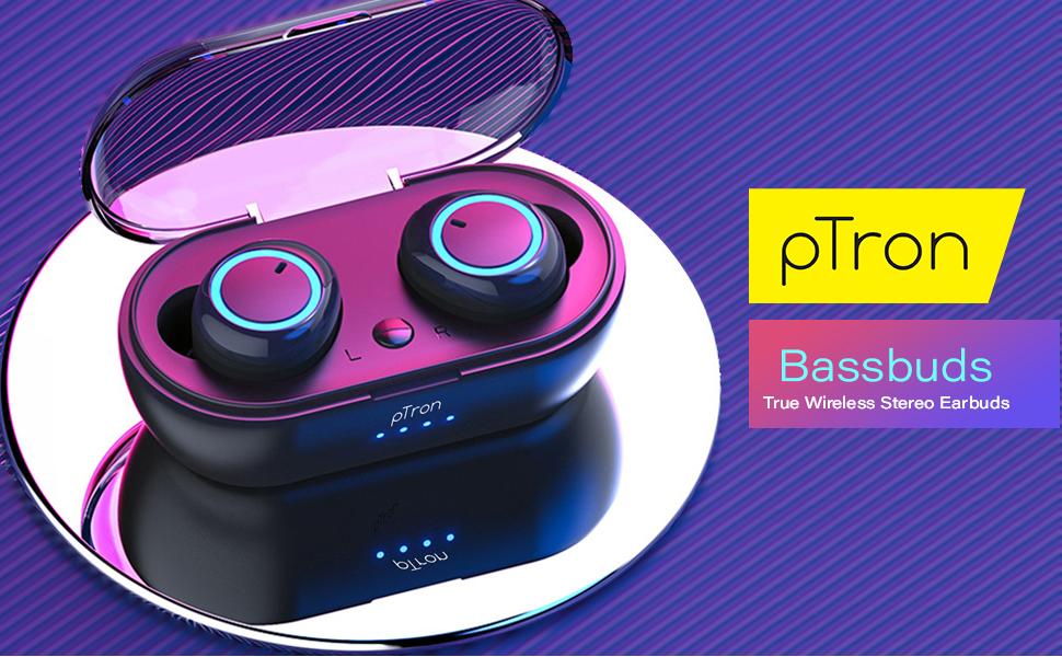 pTron Bassbuds in-Ear True Wireless Bluetooth Headphones