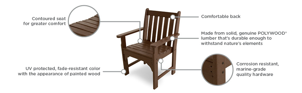 Amazon.com: Viñedo polywood Arm Chair al aire última ...