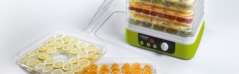 Concept Electrodomésticos SO1071 Deshidratador de frutas, 260 W ...