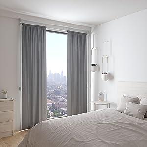 curtain rod, tension curtain rod, adjustable curtain rod, room divider, room divider rod