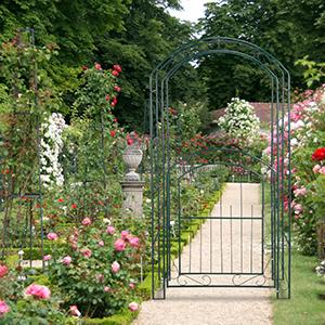 Relaxdays, Verde Arco con Puerta para Rosas, Soporte para ...