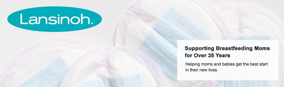 Lansinoh breast pads;breastfeeding; Waterproof lining; Disposable Nursing Pads