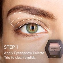 applying eyeshadow; how to apply eye makeup;tips;ideas; blending;brush;palette trio;color;light;dark