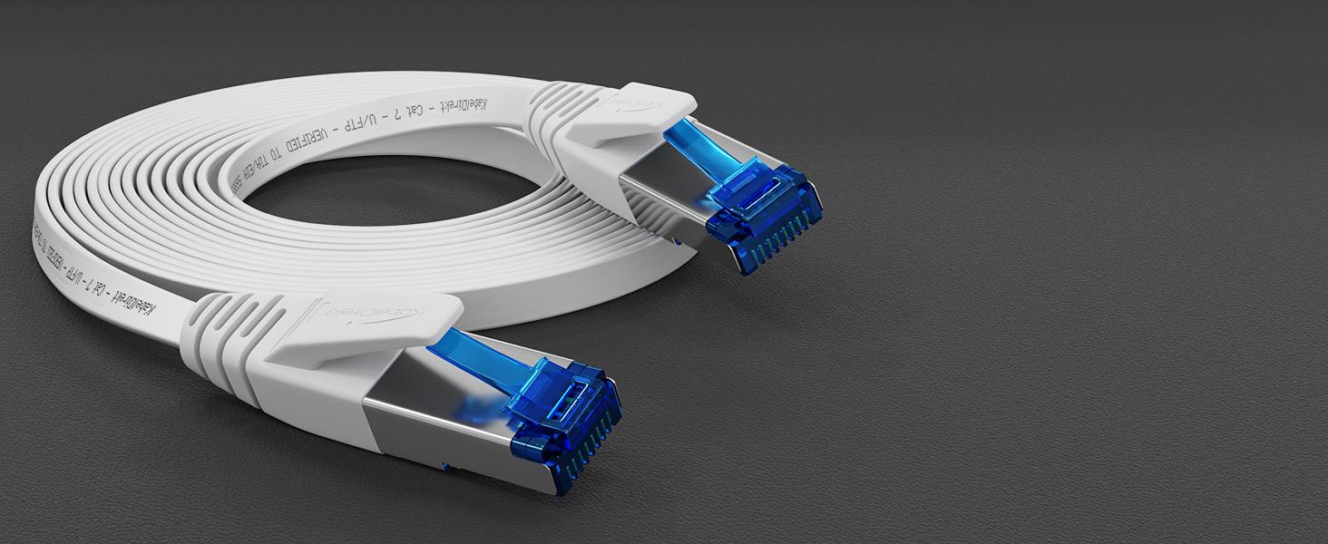 Kabeldirekt 2 M Flaches Ethernet Kabel Lan Kabel Elektronik