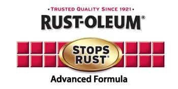 stops rust advanced gold logo spray paint premium