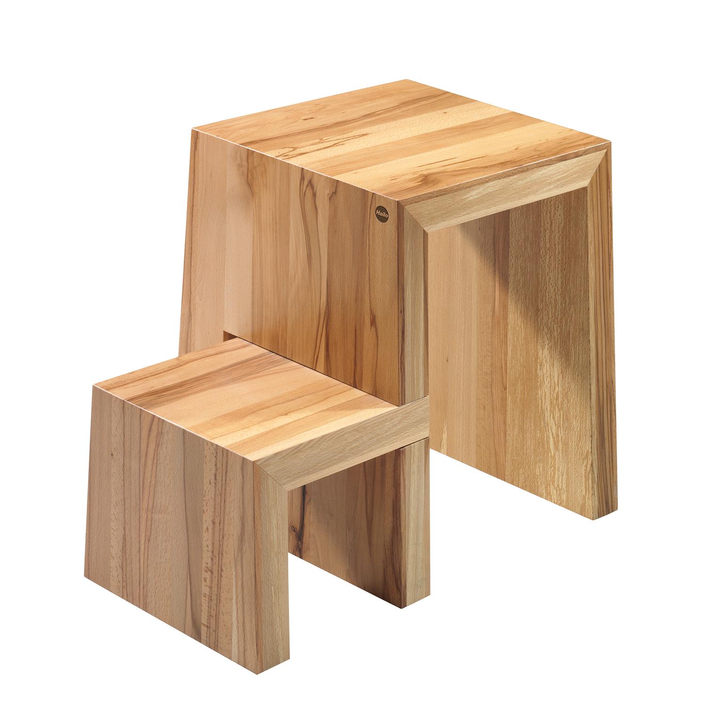 hailo 4452 001 u design hocker aus holz 2 stufen zum sitzen und steigen untere trittfl che. Black Bedroom Furniture Sets. Home Design Ideas