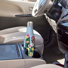 insulated water bottles, stainless steel, that fit in cup holders, that don't sweat, hot, cold