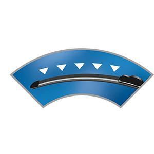 2x ESSUIE-GLACES convient pour RENAULT CAPTUR I Bosch aeroeco Bj. 2013-2015