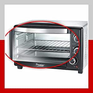 Prestige 46 L Glass OTG with Rotisserie and Convection (Black)