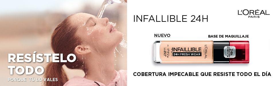 loreal, maquillaje, base maquillaje, infallible 24, base de maquillaje, base loreal