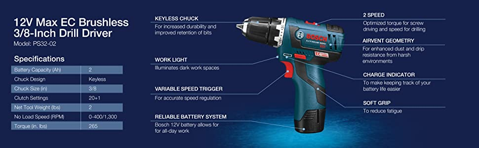 Brushless 3/8-Inch Drill Driver