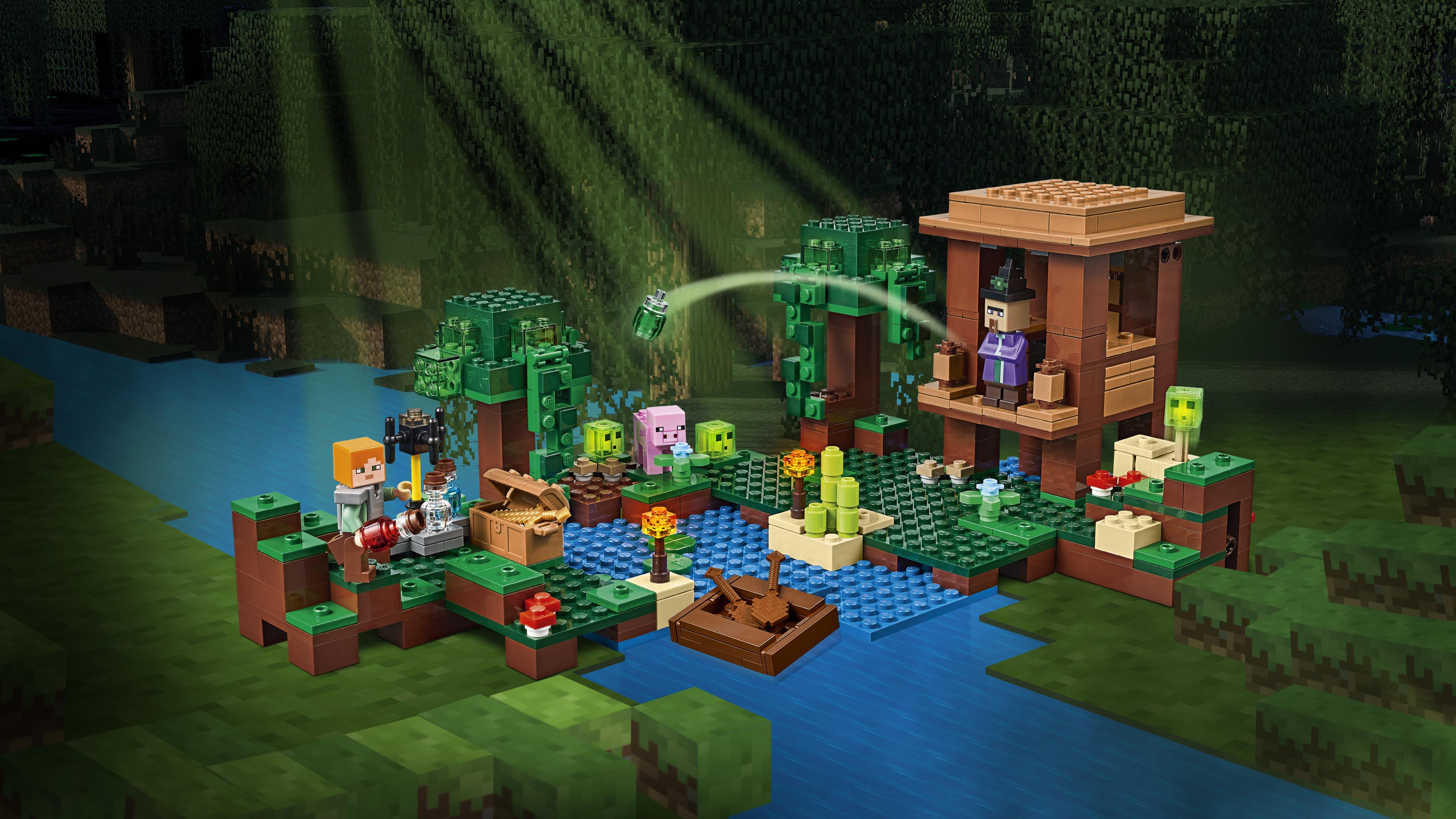 Amazon.com: LEGO Minecraft The Witch Hut 21133: Toys & Games