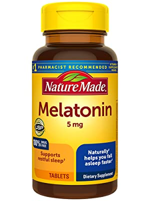 Nature Made Melatonin 5 mg Tablets