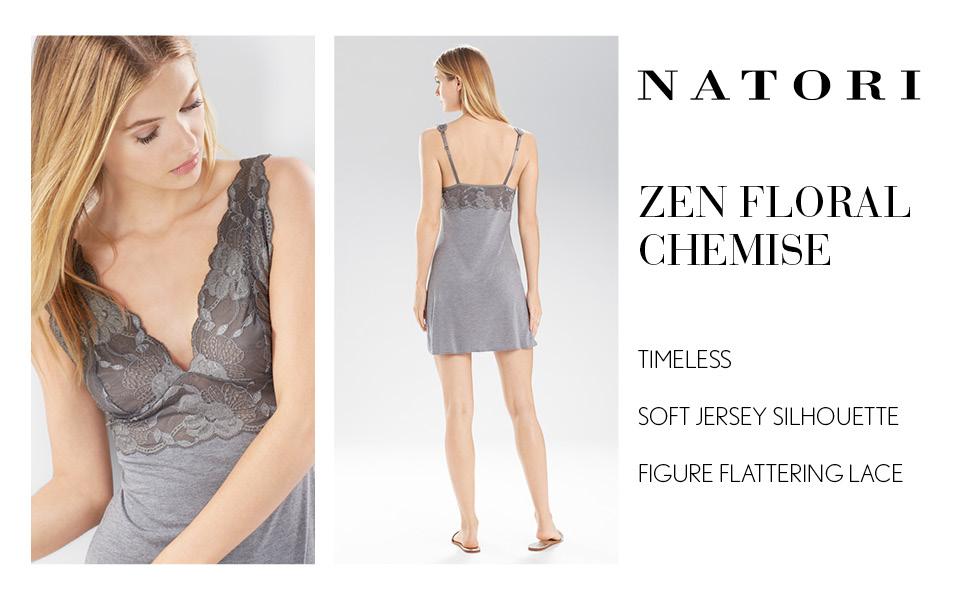 Natori Womens Zen Floral Chemise