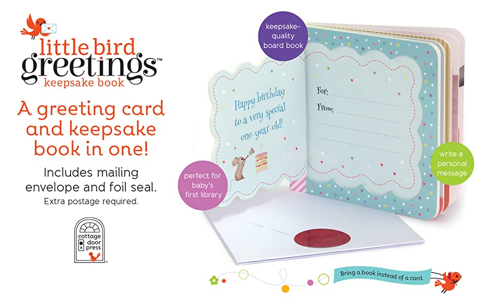 little bird greetings card board book first birthday one year old now you are one