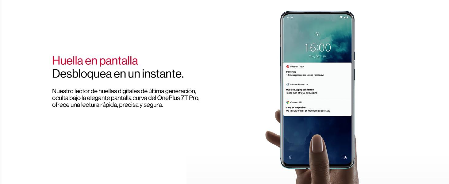 OnePlus 7T Pro, Pantalla AMOLED de 90Hz, 8GB RAM + 256GB de ...