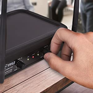 Receiver-for PA Transmitter Headset Mics PYLE Lavalier Karaoke Dj Party Bla