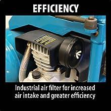 efficiency industrial air filter increased air intake greater efficienct