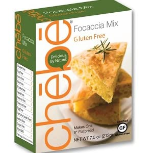 Chebe Bread Focaccia Flat Bread Mix, Gluten Free, 7.5-Ounce Bags (Pack of 8)
