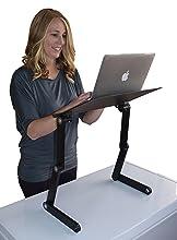 adjustable height angle ergonomic laptop standing desk conversion stand up desk converter