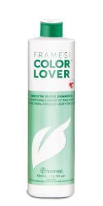 framesi, color lover, smooth shine shampoo, shinny hair shampoo, silky hair shampoo, hair shine