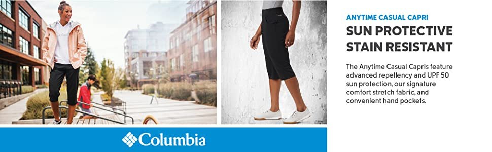 Columbia Women's Anytime Casual Capri Pants