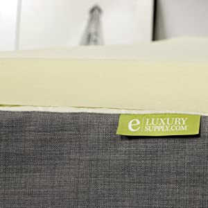 visco elastic memory foam topper