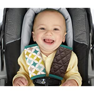 Amazon.com : Nuby Car Seat Reversible Strap Covers 2 Pack, Green :