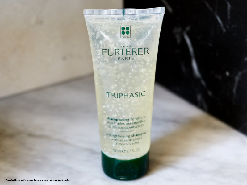 Rene Furterer TRIPHASIC Strengthening Shampoo, Thinning Hair, Scalp Microcirculation, Men & Women