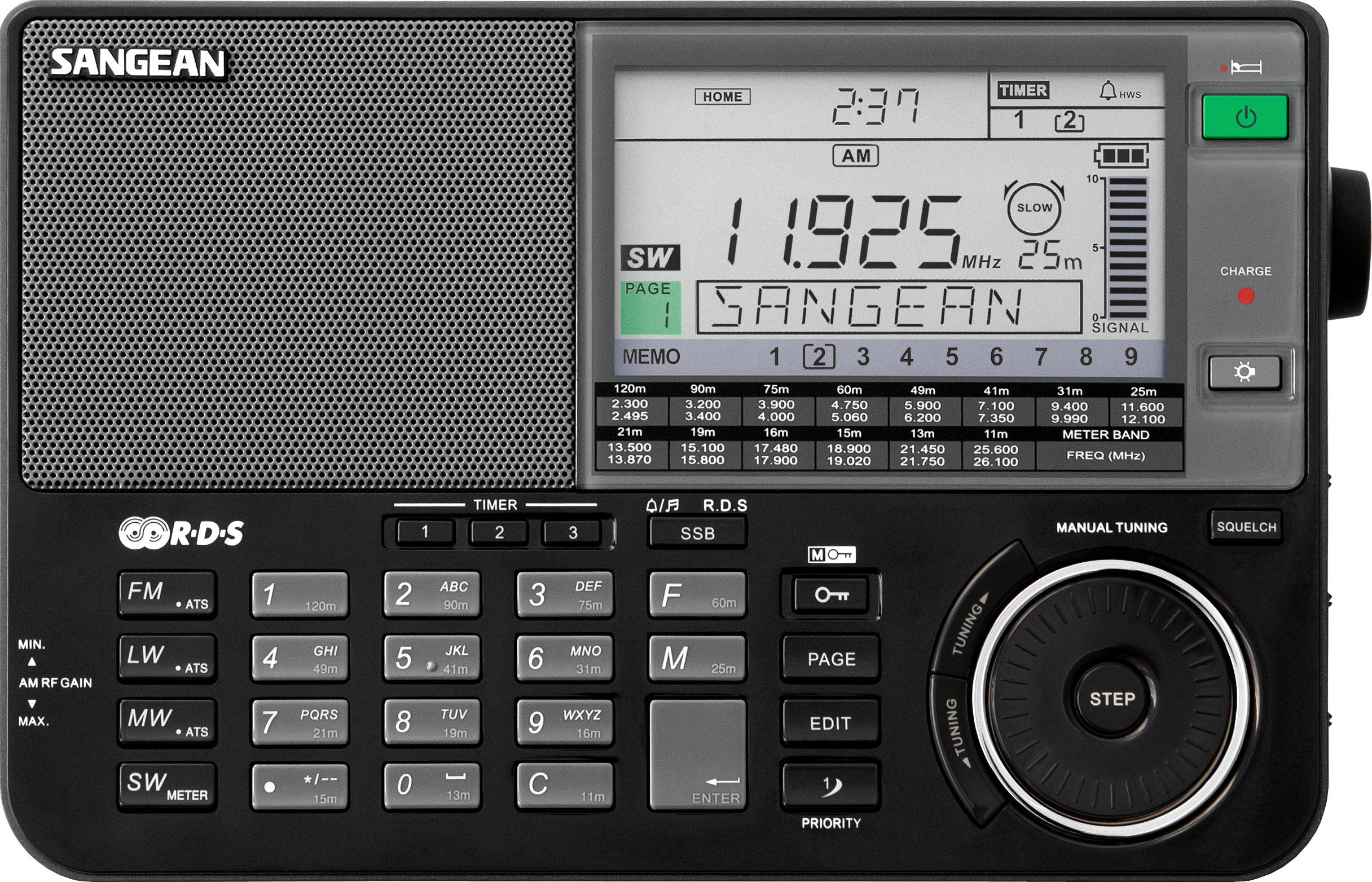 Sangean Ats 909x Am Fm Lw Sw World Band Receiver Home Voice Transmitter Via Medium Wave Rbds Mw Portable Pll Synthesized Radio