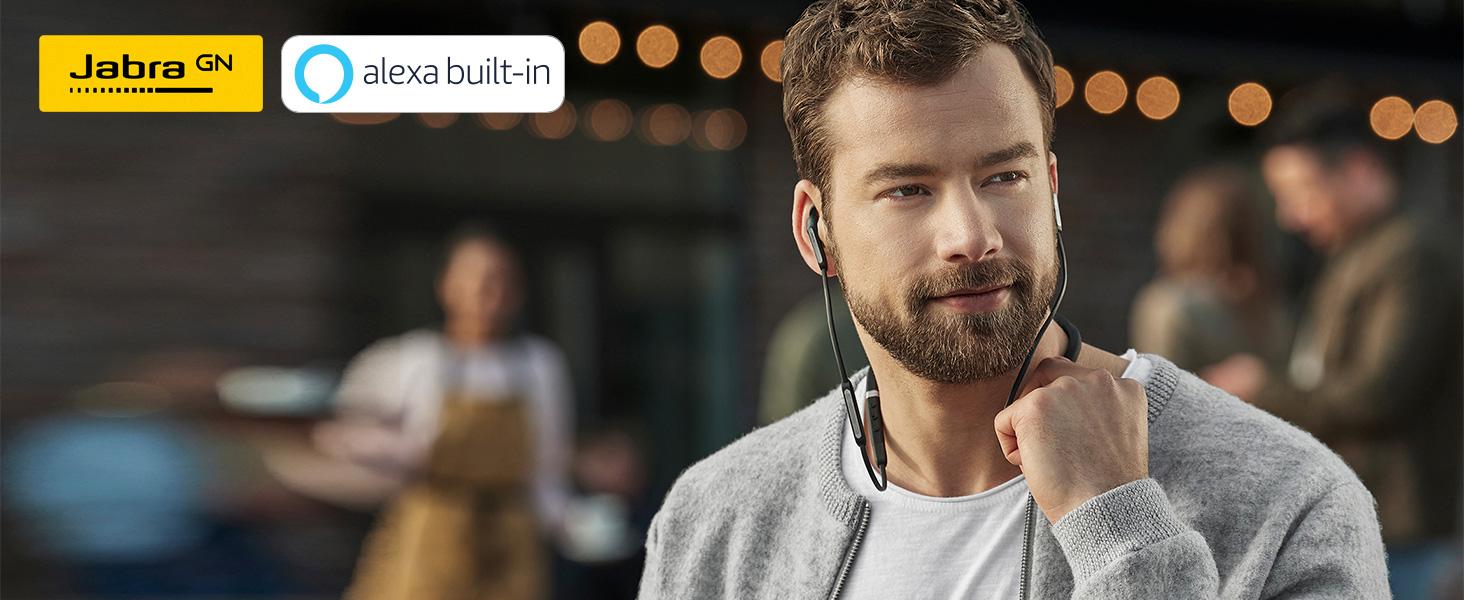 Amazon Com Jabra Elite 65e Alexa Built In Wireless Stereo Neckband With In Ear Noise Cancellation Titanium Black
