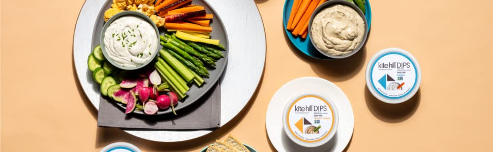 KiteHill, kite hill, dairyfree, dairy-free, dips, ranch, dairy free ranch, french onion