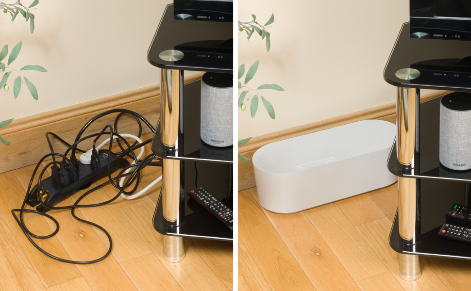 D-Line EU/CTUSMLW/SW - Caja Organizadora de Cables, Blanco, Pequeña: Amazon.es: Bricolaje y herramientas