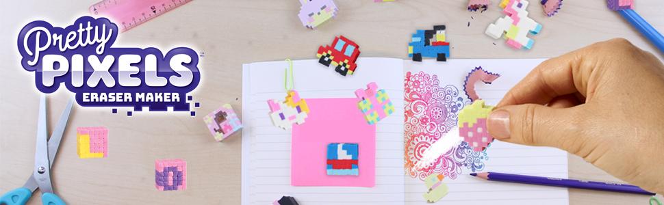 Bandai Pretty Pixels Krazy Pixels Fabrique à Gommes Set De Démarrage Thème Véhicules Loisirs Créatifs 38552