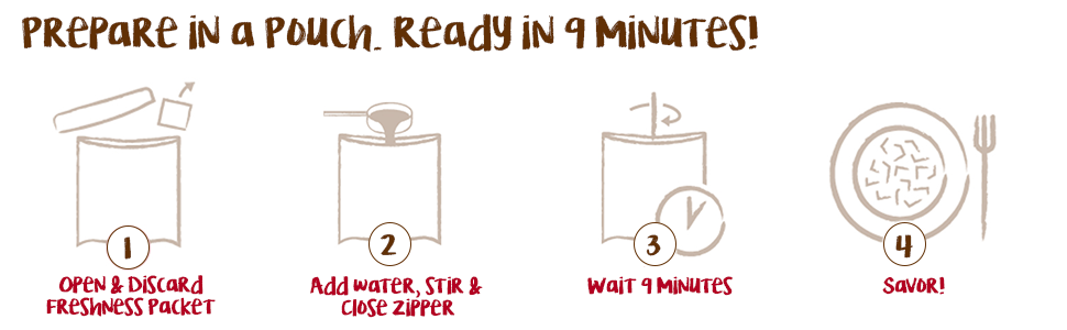 Prepare Simple Sensations in the pouch. Ready in 9 minutes!