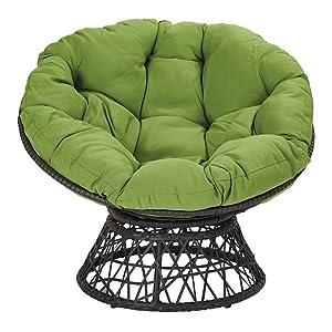 Green cushion and Black Frame