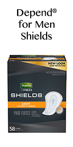 Amazon Com Depend Shields For Men Light Absorbency