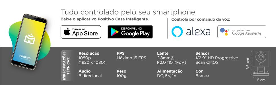 Positivo Casa Inteligente IOT Smart Câmera Wi-Fi