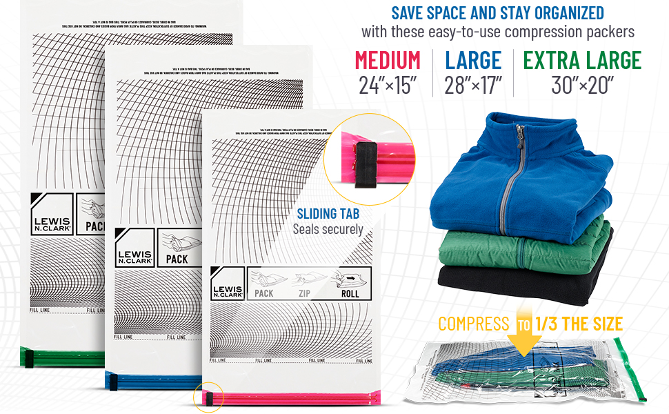 saver master luggage small medium large wide bags cloth no travel compression bags travel
