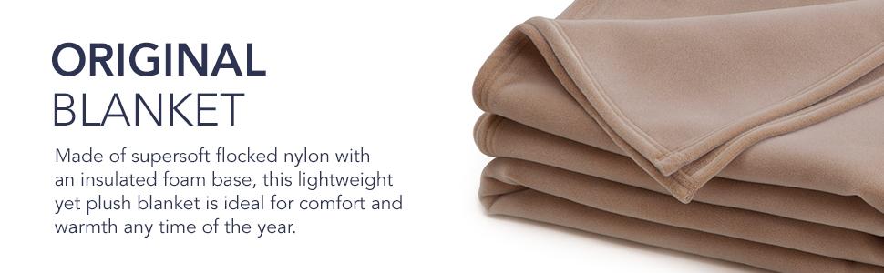 nylon; insulated base; lightweight blanket; light blanket; soft blanket; original blanket; america